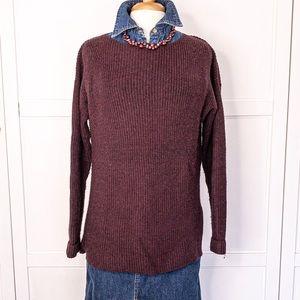 Simply Vera   Burgundy Asymmetrical Sweater